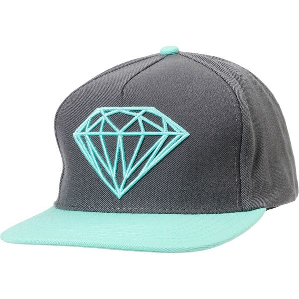 Diamond Supply Brilliant Mint & Grey Snapback Hat at Zumiez : PDP ($40) via Polyvore