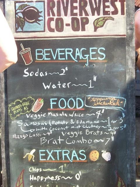 Riverwest Co Op Cafe Menu