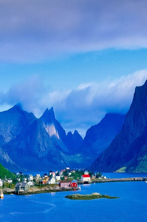 Gudvangen, Norway. I thought this was a painting, because of the colours but its living art!