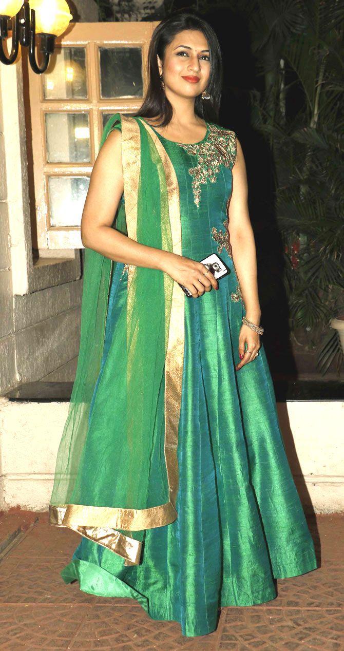 Divyanka Tripathi at Ekta Kapoor's #Diwali bash. #Bollywood #Fashion #Style #Beauty #Hot #Desi #Sexy