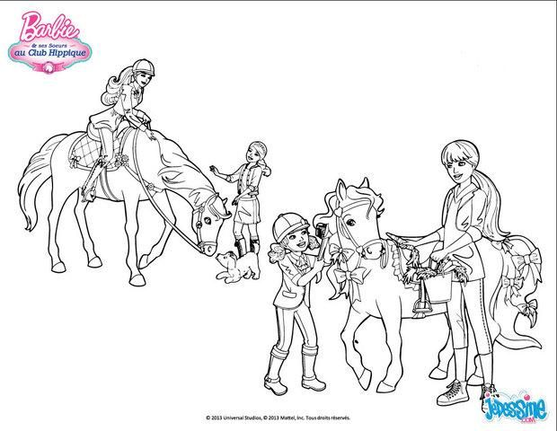 107 best images about coloriages barbie on pinterest sa un and henna - Chevaux a colorier et a imprimer ...