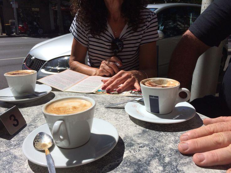 Coffee on Lygon St