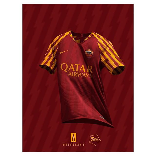 aa7a40f1847 2019-20 Roma x Nike strip @rupertgraphic | Football Shirt Collective ...