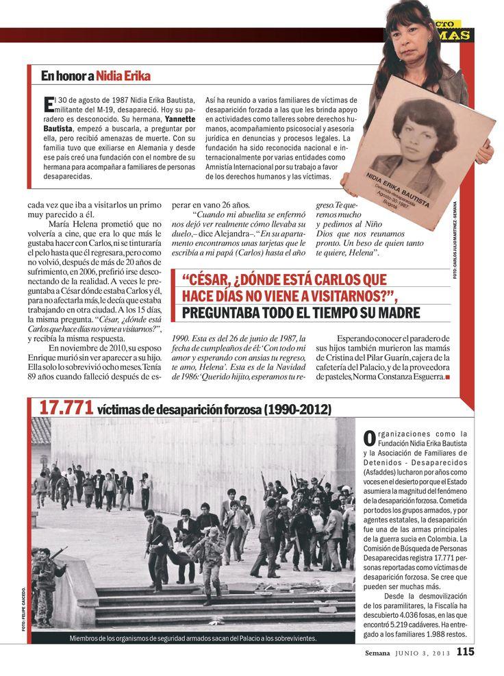 Morir esperando parte 2. El flagelo de la desaparición forzada en Colombia. Especial de víctimas. Semana, 2103.