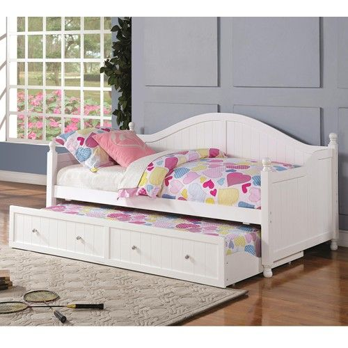 Coaster Daybeds by Coaster White Wooden Daybed with Trundle - Coaster Fine Furniture