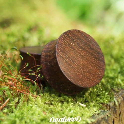 Merbau, ear plug, wooden plug