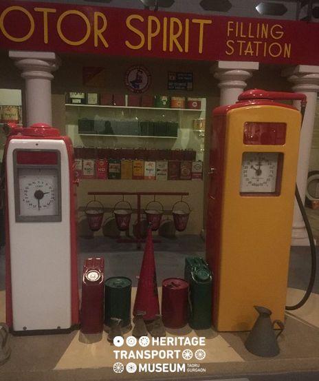 Vintage memorabilia: Recreation of an old petrol pump reminding of the pre independence era of India. :) #vintage #vintagcollection #vintagestyle #petrolpump #oldtimes #vintageera #incredibleindia #heritage #transport #museum #htm #travel #explore