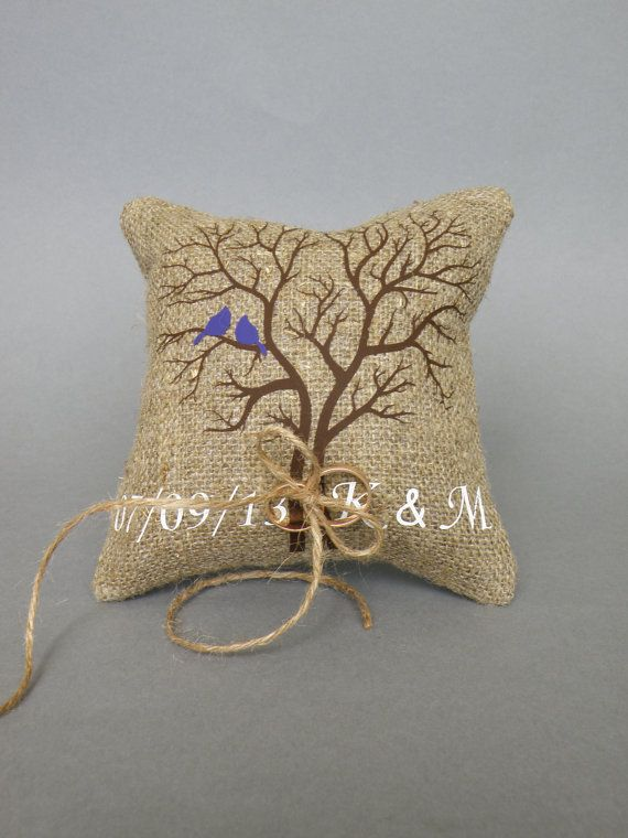 Wedding rustic natural Burlap linen Ring Bearer by pastinshs, $25.00 This is different but so cute! Long time to get here though.