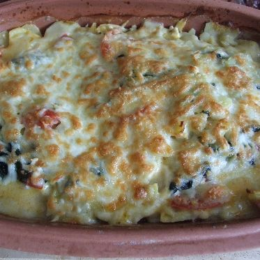 Kartoffelgratin im Römertopf Rezept | Küchengötter