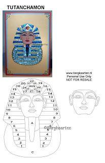 Pharaoh Iris Fold Card