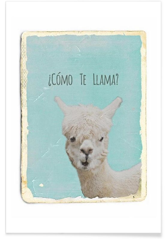 Como te Llama? as Premium Poster by Monika Strigel | JUNIQE