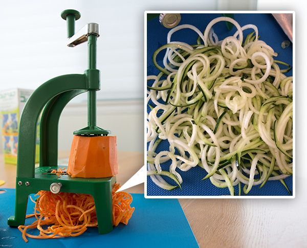 "#Spiralized veggies are popping up everywhere! Have you tried making them yet?  The #Benriner Spiral Slicer (found at fine kitchen shops nationwide) is an ideal tool for curling or ""spiralizing"" your veggies!  http://www.notcot.com/archives/2014/03/spiralizing-benriner-spiral-sl.php"