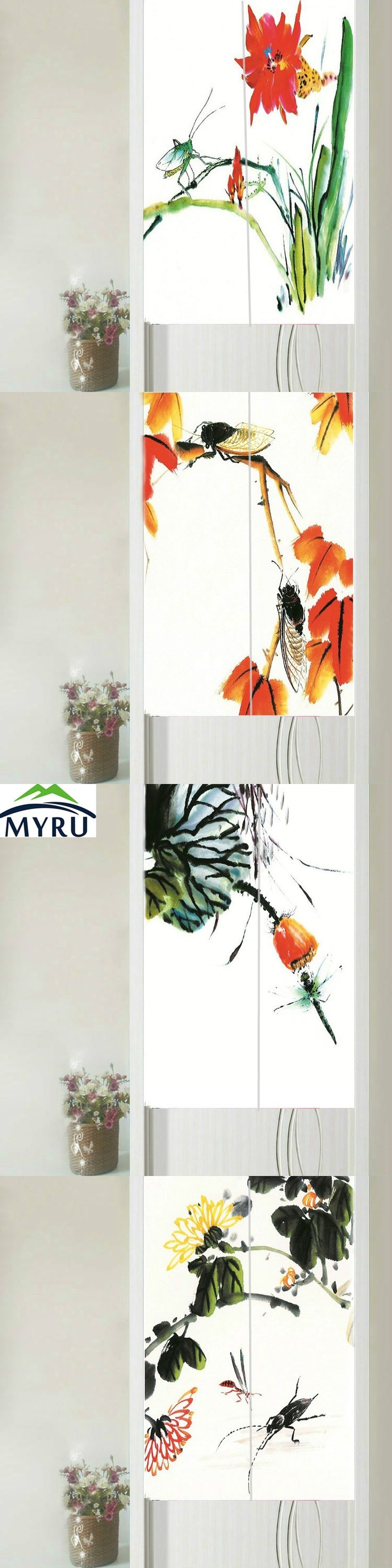 MYRU Chinese Style Wash Painting Flower&insect Series Door Curtain  Partition Household Geomantic Curtain 85x150cm