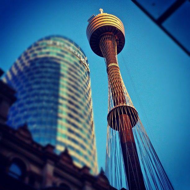 Centerpoint Tower Taken Pitt St Mall, Sydney, Australia