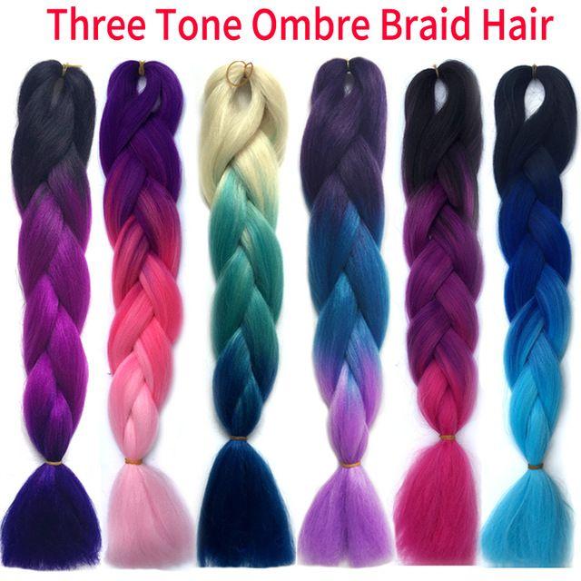 one piece Ombre kanekalon braiding hair xpression braiding hair kanekalon jumbo braid hair extension Expression braiding hair