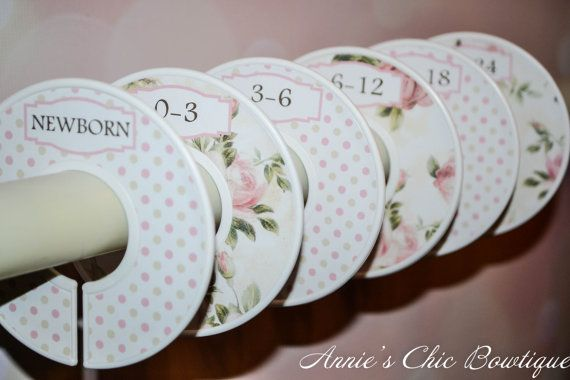 Baby Closet Dividers Floral Closet Dividers by AnniesChicBowtique