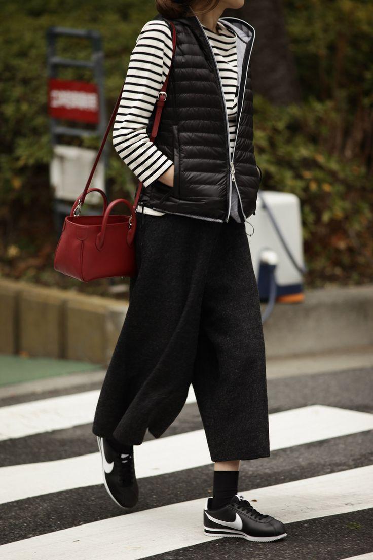 """Kyoko Kikuchi's Closet #kk-close  """"あいだ """"に着たい春ダウンのスタイル1"""