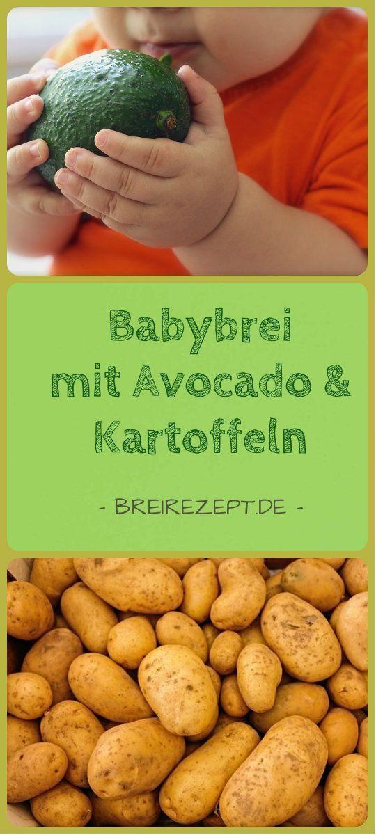 Avocado-Brei mit Kartoffel –