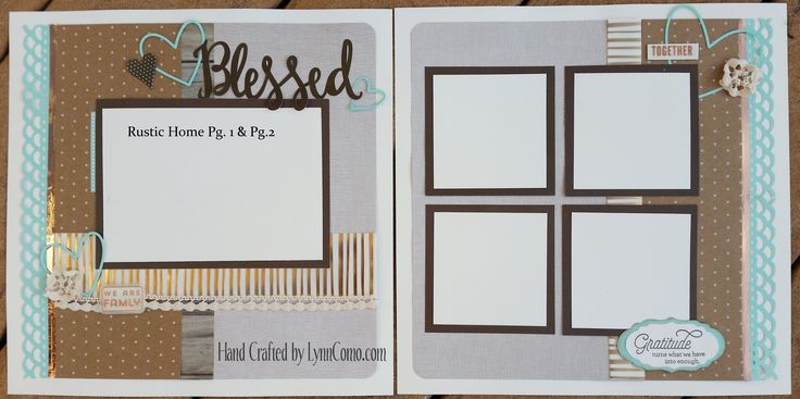 Feeling BLESSED is the perfect pages for your family, wedding, professional photos you have taken.  Love the Rustic Home Fundamental Collection for a unique and neutral layout.  The copper vellum and lace ribbon brings it all together.  Read more details on the link below.