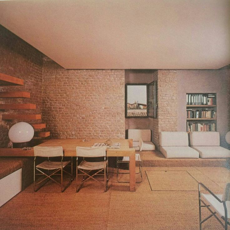 Rome apartment by architect gae aulenti arkitektur for Home node b architecture