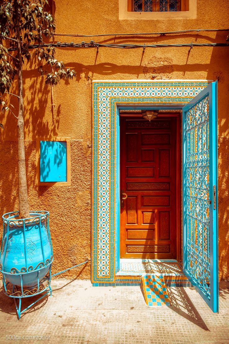 Morocco - The combination of colors is exciting