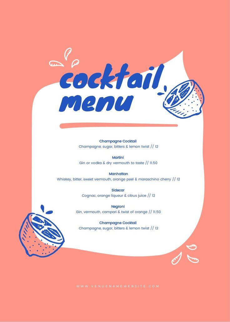 65 best Food \ Drink DIY Templates - DIY Graphic Design images on - a la carte menu template