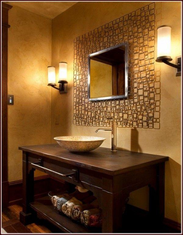 Aluminum-frame-mirror-inspiring-rustic-vessel-sink-vanity-for-bathroom