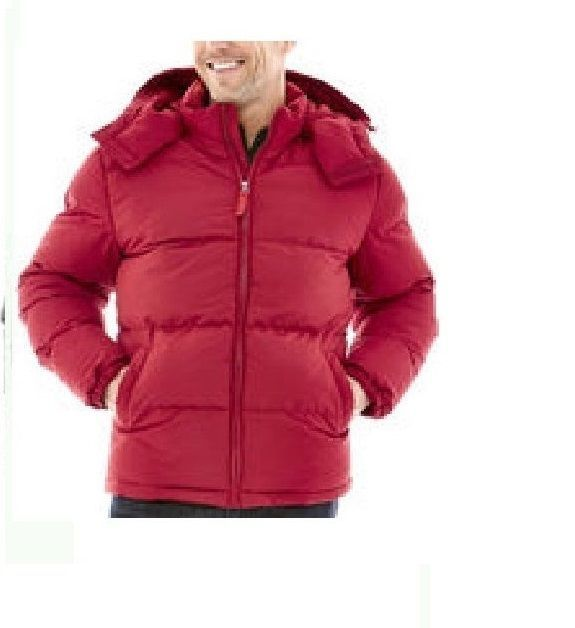 St Johns Bay Mens Puffer Jacket Hoded Solid Polyester Garnet Red size S NEW  29,99 http://www.ebay.com/itm/St-Johns-Bay-Mens-Puffer-Jacket-Hoded-Solid-Polyester-Garnet-Red-size-S-NEW-/252993380434?ssPageName=STRK:MESE:IT