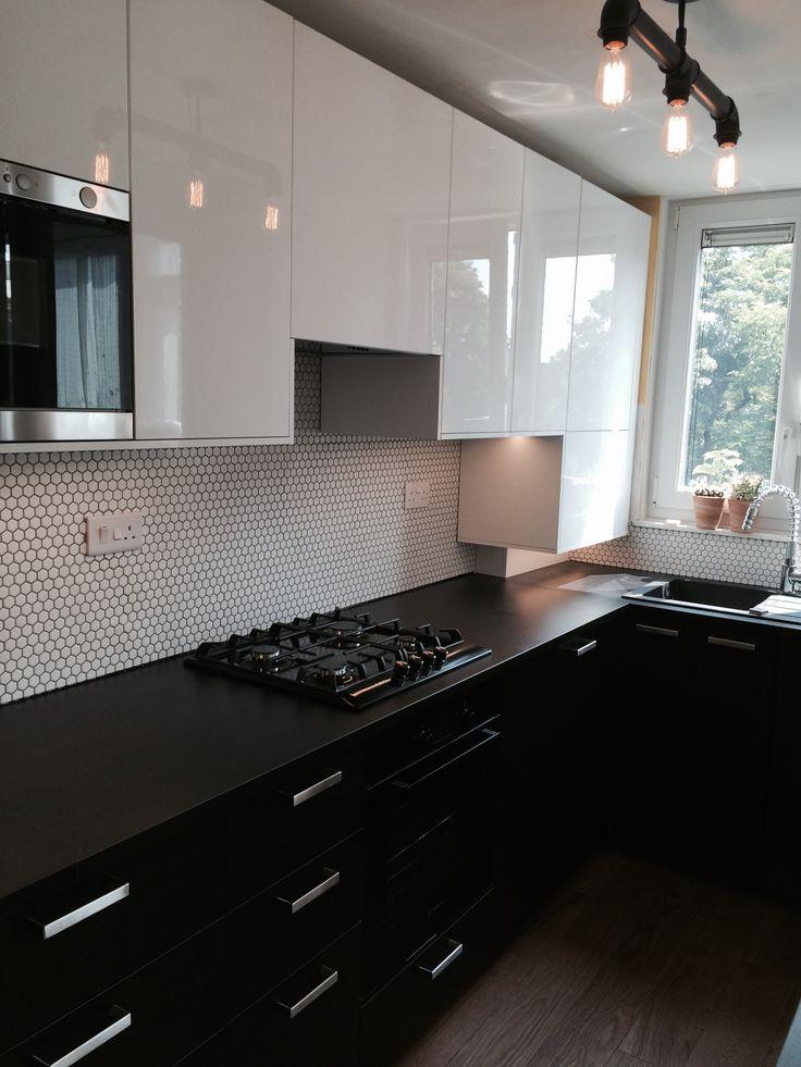 Brixton sleek black urban kitchen