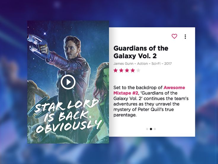 Movie Card Concept by Michael Fuchs