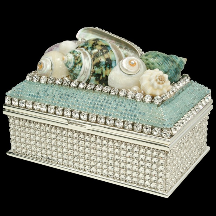 152 best Jewelry Shell Boxes images on Pinterest Shells Beach