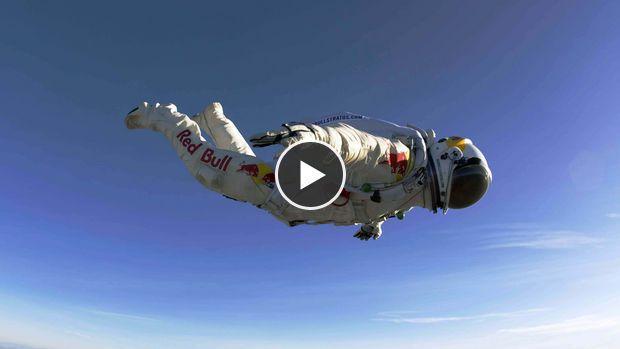 Saut de Felix Baumgartner : la caméra embarquée du record en chute libre