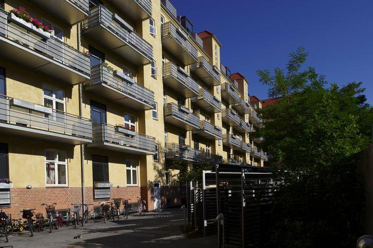 Mønsterbo, Frederiksberg. Etablering af altaner af Pålsson Arkitekter.