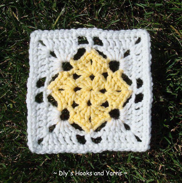 ... hook, 6 rounds #crochet #motif: Crochet Granny, Crochet Motif