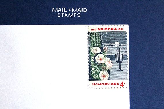 Arizona Statehood || Set of 10 unused vintage postage stamps