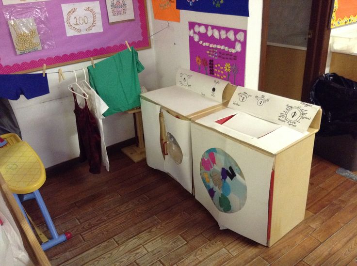 Dramatic play turned into a laundromat.