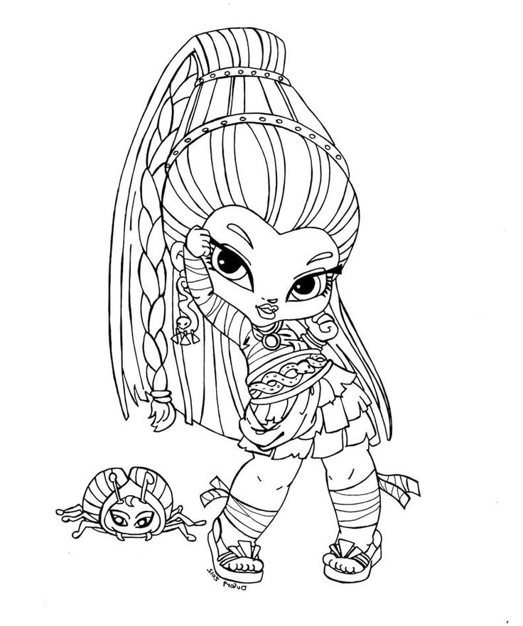 monster high baby coloring pages - Monster High Chibi Coloring Pages