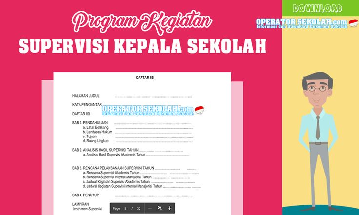 Program Kerja Supervisi Kepala Sekolah Terbaru