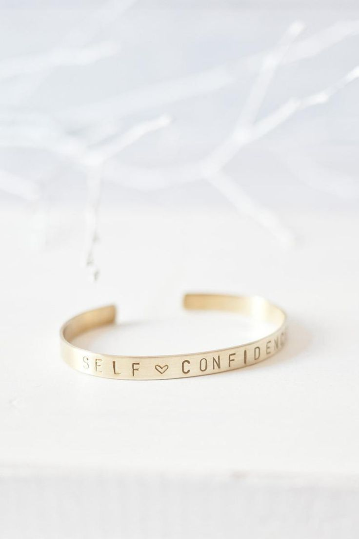 Bangle »SELFCONFIDENCE« | made of brass incl. jewelry box and care cloth – Wardrobe Update