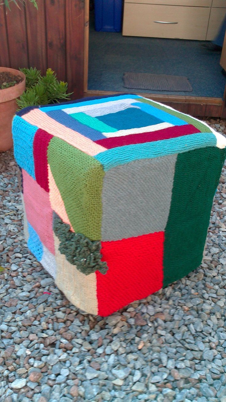 Hand Knitted ottomans from Woza Moya