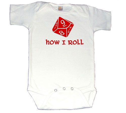 Maybe if I show D all these cute geeky baby clothes, he'd be more willing...