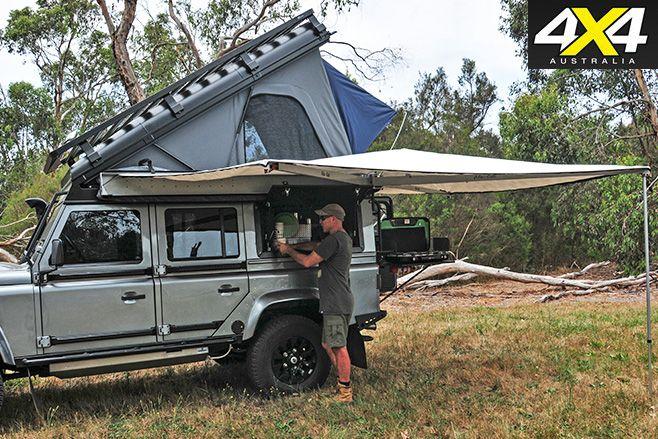 Alu Cab Tent Erected Land Rover Defender Pinterest