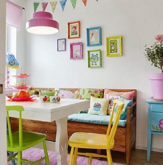 Pin by beliz co ar on dining area pinterest for Pastel dining room ideas