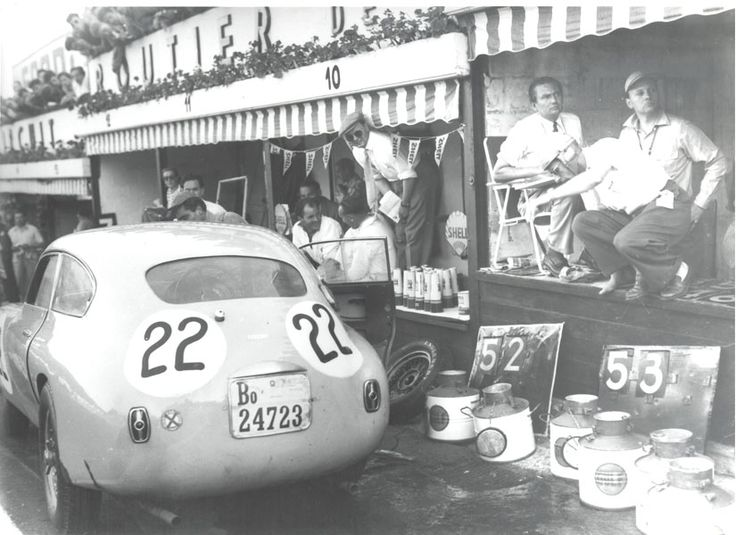 July 25, 1953 - Charles de Tornaco and Wagner race the Ferrari 212 Export in the 24 Hour Francorchamps.