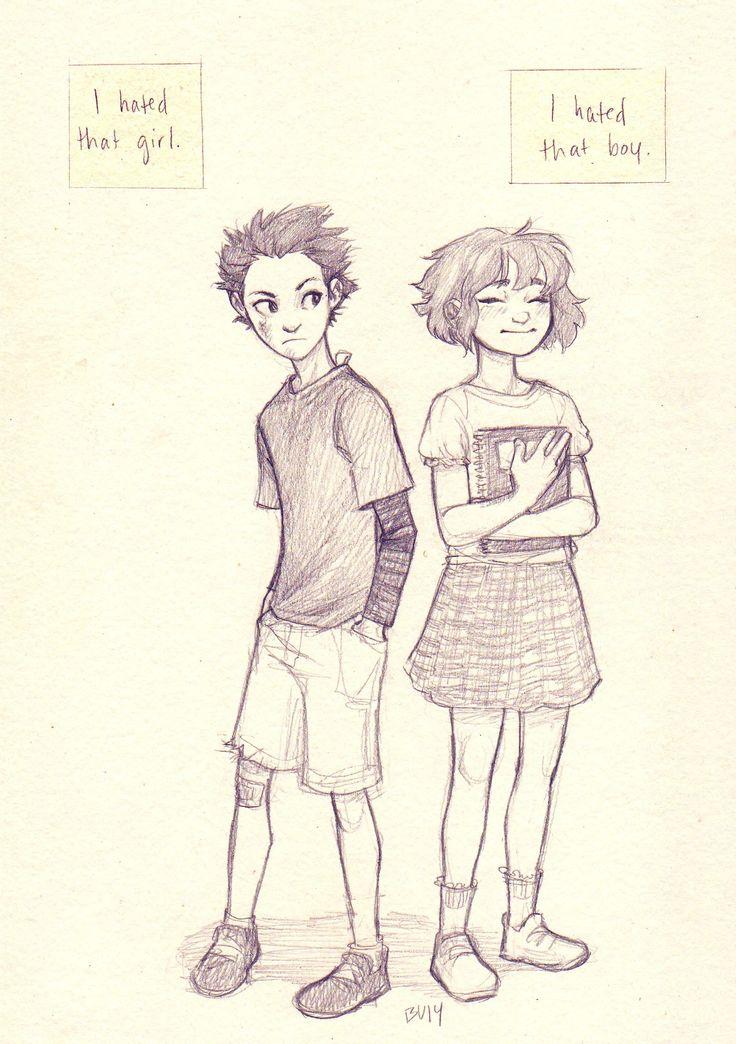 By burdge koe no katachi manga soon to be anime for Cute drawing ideas