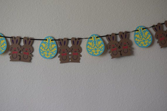 Easter Bunny garland/ Easter bunny banner/ Easter by FunWithPearl