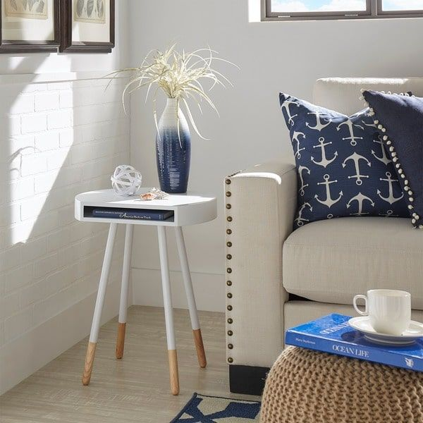 Marcella Paint-dipped Round End Table iNSPIRE Q Modern