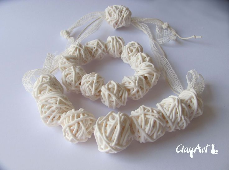 polymerc clay neckalce, handmade. aviable on www.clayartitalia.com