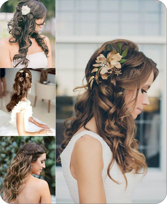 Balayage Highlights and Balayage Ombre for Spring 2014 wedding balayage sun-kiss highlights half up half downs styles with flowers