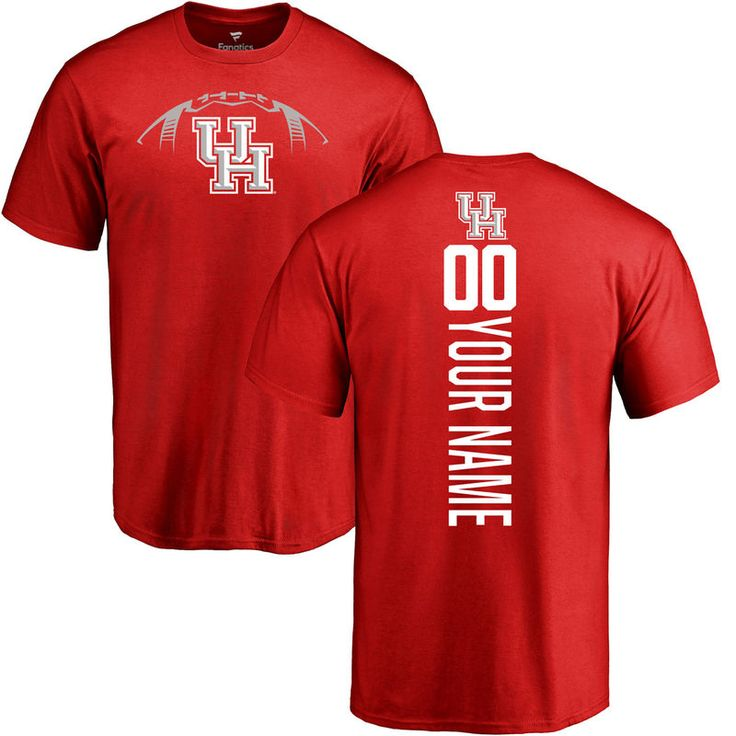 Houston Cougars Football Personalized Backer T-Shirt - Red